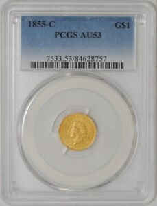 Click now to see the BUY IT NOW Price! 1855 C $ GOLD INDIAN AU53 PCGS