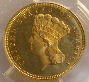 Click now to see the BUY IT NOW Price! UNCIRCULATED 1879 $3.00 PRINCESS GOLD COIN PCGS MS64