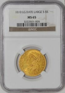 Click now to see the BUY IT NOW Price! 1810 $5 GOLD CAPPED BUST LG DATE LG 5 MS65 NGC