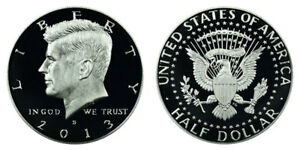 2013 S GEM BU PROOF KENNEDY HALF DOLLAR 50 CENT BRILLIANT UNCIRCULATED COIN PF
