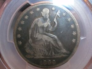 1860 SEATED LIBERTY HALF DOLLAR  VG10 PCGS ABT. FINE & ATTRACTIVE