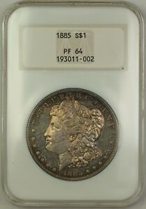 Click now to see the BUY IT NOW Price! 1885 PROOF MORGAN SILVER DOLLAR $1 OLD NGC HOLDER PF 64 TONED  BETTER COIN