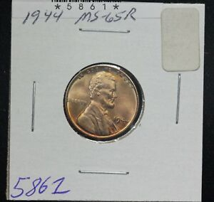 1944 WHEAT CENT MS RED