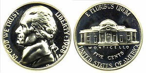 1968 S GEM BU PROOF JEFFERSON NICKEL 5 CENT BRILLIANT UNCIRCULATED US COIN PF