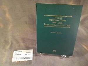 8 COIN 2009 LINCOLN CENT P&D SET WITH LITTLETON LINCOLN MEMORIAL CENT FOLDER