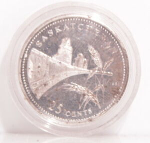 Click now to see the BUY IT NOW Price! 1992 CANADA STERLING SILVER PROVINCIAL 25 CENT QUARTER   SASKATCHEWAN