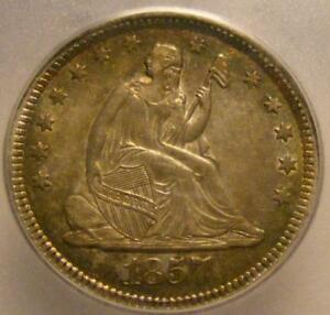 Click now to see the BUY IT NOW Price! UNCIRCULATED 1857 O SEATED LIBERTY QUARTER ICG MS 61