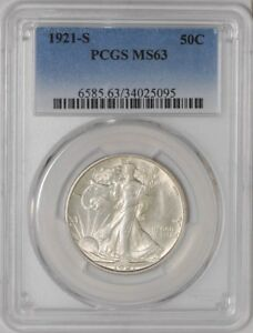 Click now to see the BUY IT NOW Price! 1921 S WALKING LIBERTY HALF 50C MS63 PCGS