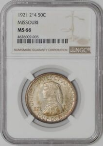 Click now to see the BUY IT NOW Price! 1921 2X4 MISSOURI 50C MS66 NGC