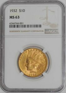 1932 $10 GOLD INDIAN 4244744 001 MS63 NGC
