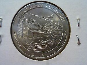 2014 P  UNCIRCULATED  GREAT SMOKY MTNS.; TENNESSEE ATB QUARTER US QUARTER DOLLAR