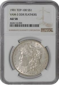 Click now to see the BUY IT NOW Price! 1901 MORGAN DOLLAR $ VAM 3 DDR FEATHERS 4626116 004 AU58 NGC