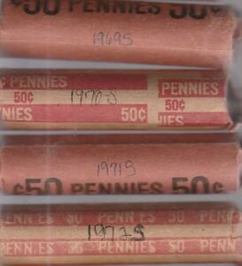 Click now to see the BUY IT NOW Price! 1 ROLL EACH 1969 S 1970 S 1971 S 1972 S LINCOLN MEMORIAL CENTS  AVG. CIRCULATED