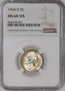 Click now to see the BUY IT NOW Price! 1944 D JEFFERSON NICKEL 5C 4244795 003 MS68 5FS NGC
