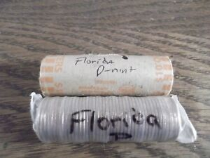 2004 FLORIDA P AND D QUARTER ROLLS UNCIRC.   1 OF EACH FOR 2 ROLLS TOTAL