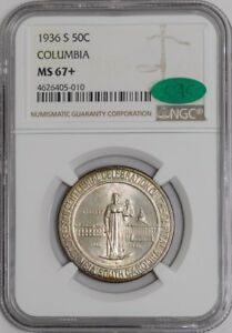 Click now to see the BUY IT NOW Price! 1936 S COLUMBIA 50C 938572 9 MS67  NGC   CAC