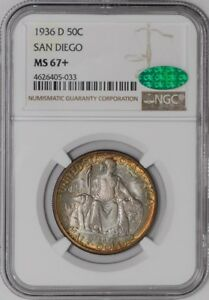 Click now to see the BUY IT NOW Price! 1936 D SAN DIEGO 50C 938572 24 MS67  NGC   CAC