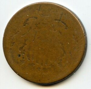 1864 TWO CENT PIECE COIN AG