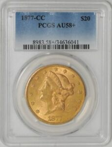 Click now to see the BUY IT NOW Price! 1877 CC $20 GOLD LIBERTY 34636041 AU58  PCGS