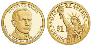 2014 S GEM PROOF DCAM CALVIN COOLIDGE PRESIDENTIAL DOLLAR UNCIRCULATED COIN PF
