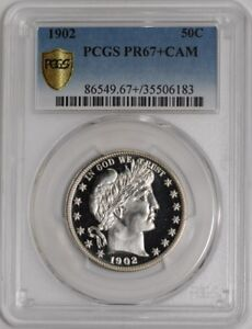 Click now to see the BUY IT NOW Price! 1902 BARBER HALF 50C 937999 6 PR67  CAMEO SECURE PLUS PCGS