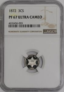 Click now to see the BUY IT NOW Price! 1872 THREE CENT 3CS 936755 16 PF67 ULTRA CAMEO NGC