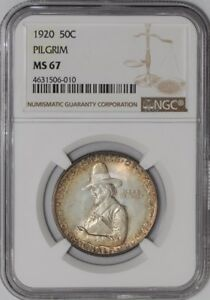 Click now to see the BUY IT NOW Price! 1920 PILGRIM 50C 938842 85 MS67 NGC