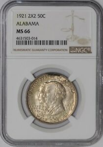 Click now to see the BUY IT NOW Price! 1921 ALABAMA 50C 2X2 938855 4 MS66 NGC