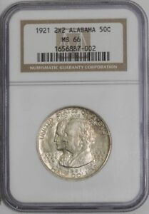 Click now to see the BUY IT NOW Price! 1921 ALABAMA 2X2 50C 938842 4 MS66 NGC
