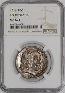 Click now to see the BUY IT NOW Price! 1936 LONG ISLAND 50C 938783 11 MS67  NGC