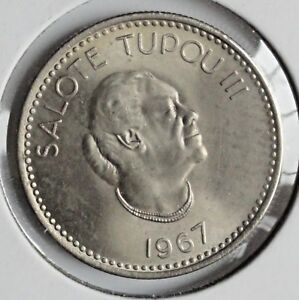 TONGA 1967 5 SENTI MINT STATE UNCIRCULATED
