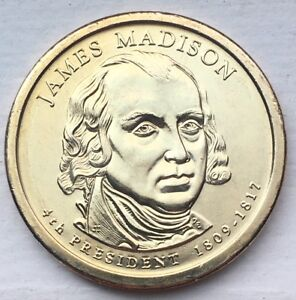BRILLIANT UNCIRCULATED 2007 JAMES MADISON PRESIDENTIAL DOLLAR FROM US MINT ROLL
