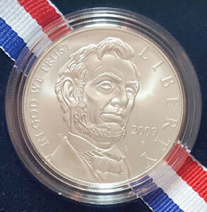 2009 P ABRAHAM LINCOLN UNCIRCULATED SILVER DOLLAR COMMEMORATIVE