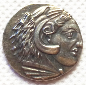 MUSEUM QUALITY GREAT GREECE ALEXANDER SILVER COMMEMORATIVE COIN J376
