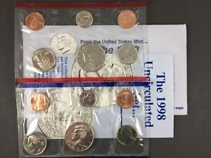 1998 US MINT UNCIRCULATED 10 COIN MINT SET