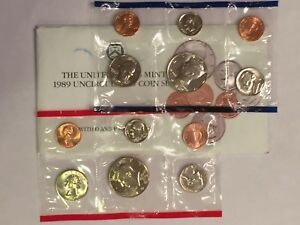 1989 US MINT UNCIRCULATED 10 COIN MINT SET