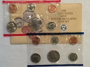 1990 US MINT UNCIRCULATED 10 COIN MINT SET