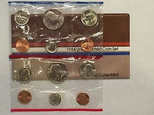 1984 US MINT UNCIRCULATED 10 COIN MINT SET