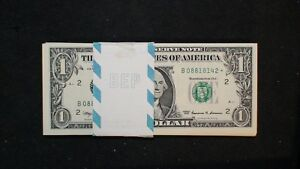 1999 ONE DOLLAR NEW YORK GEM UNC PACK OF 50 FEDERAL RESERVE STAR NOTES $1 BILLS