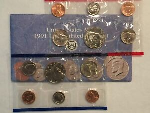 1991 US MINT UNCIRCULATED 10 COIN MINT SET