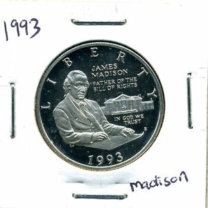 SILVER 1993 S UCAM PROOF JAMES HALF DOLLAR GEM MINT STATE UNCIRCULATED COIN4621