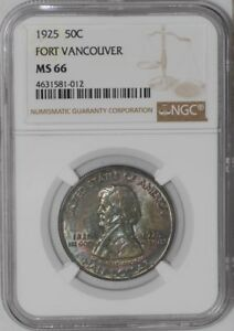 Click now to see the BUY IT NOW Price! 1925 FORT VANCOUVER 50C 939014 2 MS66 NGC