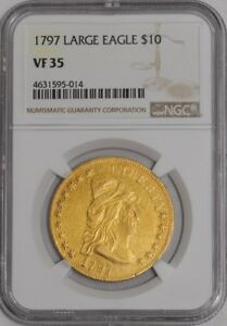 1797 $10 GOLD CAPPED BUST LARGE EAGLE 939098 5 VF35 NGC