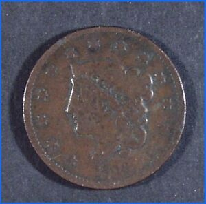 1836 U.S. CORONET HEAD ONE CENT LARGE COIN