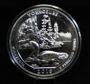 2018 VOYAGEURS 5OZ AMERICA THE BEAUTIFUL SILVER QUARTER [10DUD]