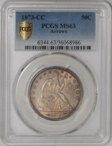 Click now to see the BUY IT NOW Price! 1873 CC SEATED LIBERTY HALF 50C ARROWS 939207 7 MS63 SECURE PLUS PCGS