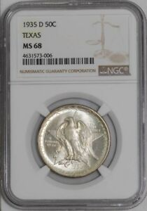 Click now to see the BUY IT NOW Price! 1935 D TEXAS 50C 938842 100 MS68 NGC