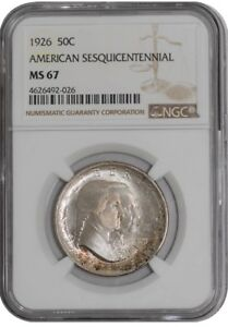 Click now to see the BUY IT NOW Price! 1926 SESQUICENTENNIAL 50C 938842 95 MS67 NGC