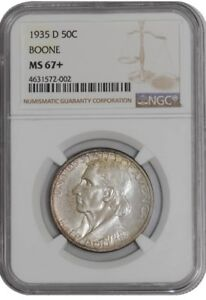 Click now to see the BUY IT NOW Price! 1935 D BOONE 50C 938842 28 MS67  NGC