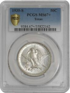 Click now to see the BUY IT NOW Price! 1935 S TEXAS 50C 938855 100 MS67  SECURE PLUS PCGS